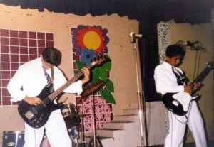 Azad & Me performing on-stage