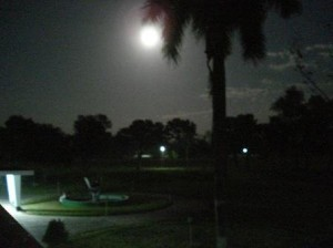 night view before dining hall