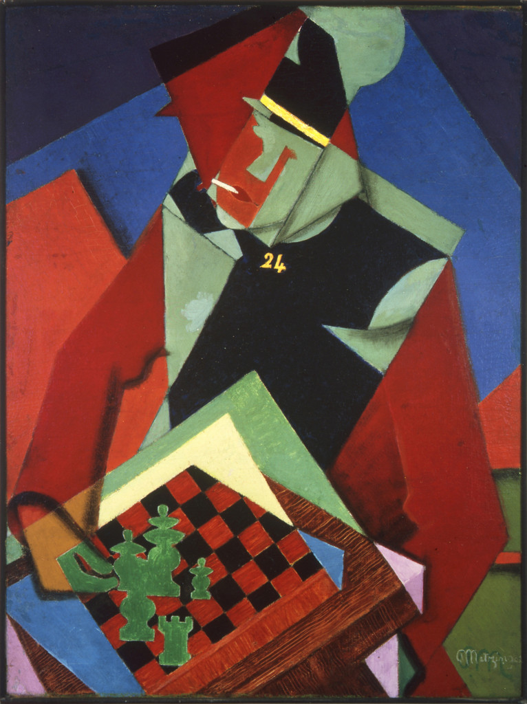 Jean_Metzinger,_1915,_Soldat_jouant_aux_échecs_(Soldier_at_a_Game_of_Chess),_oil_on_canvas,_81.3_x_61_cm,_Smart_Museum_of_Art